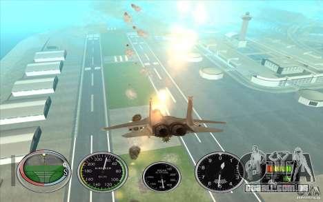 Rápido lançamento de foguete a Hydra e Hunter para GTA San Andreas quinto tela