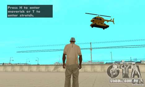 VIP TAXI para GTA San Andreas terceira tela