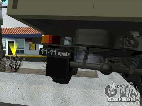 GÁS 34 para GTA San Andreas vista interior