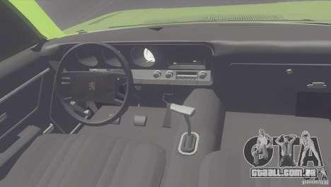 Peugeot 504 para GTA San Andreas vista direita
