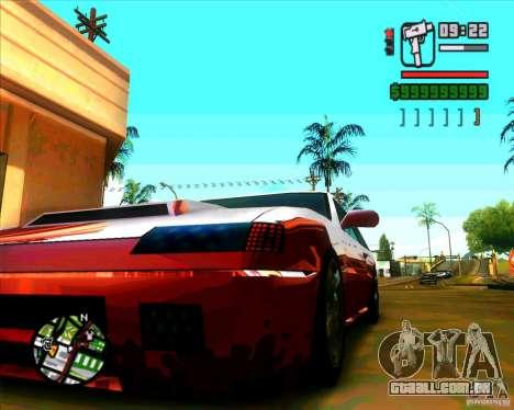 Vidro e novas luzes para GTA San Andreas por diante tela