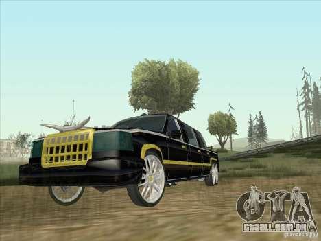 Limousine para GTA San Andreas esquerda vista
