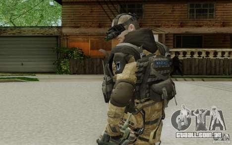 Um engenheiro de Warface para GTA San Andreas terceira tela