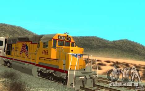 SD 40 Union Pacific Building America para GTA San Andreas