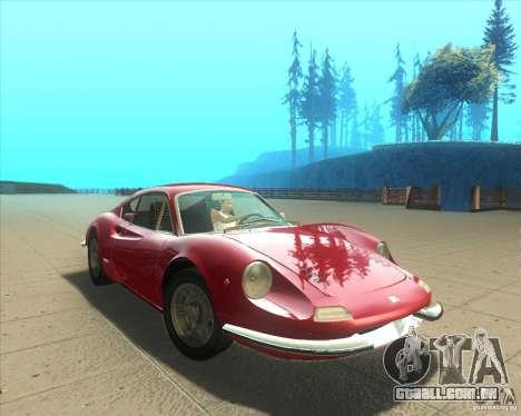 Ferrari Dino 246 GT para GTA San Andreas vista direita
