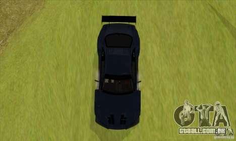Nissan Skyline R34 GT-R LM para GTA San Andreas traseira esquerda vista