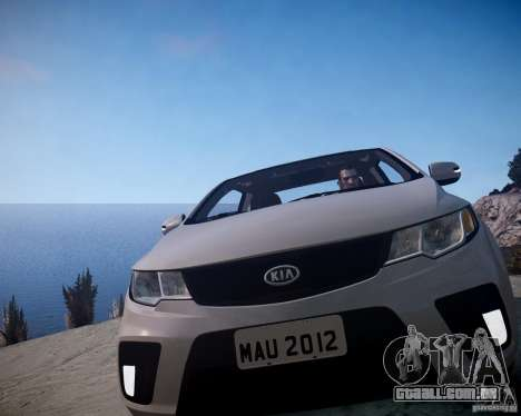 Kia Cerato Koup 2011 para GTA 4 vista de volta