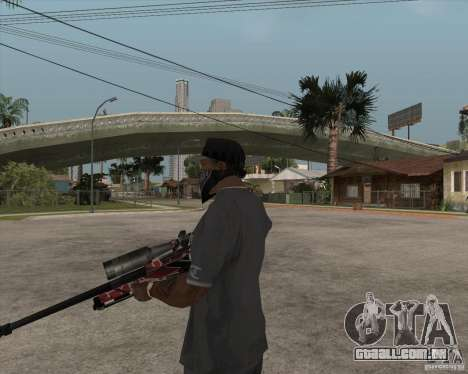 Accuracy International L96A1 para GTA San Andreas terceira tela