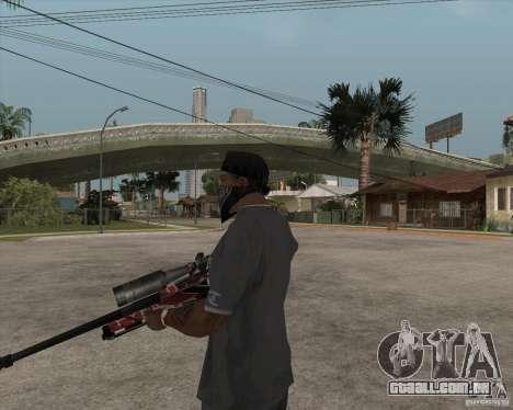 Accuracy International L96A1 para GTA San Andreas terceira tela
