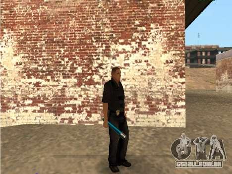 Chrome and Blue Weapons Pack para GTA San Andreas sexta tela