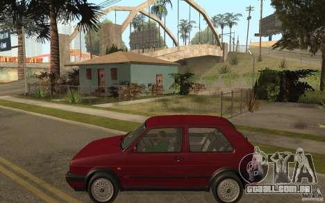 VW Golf Mk2 GTI para GTA San Andreas esquerda vista
