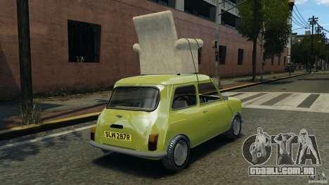 Mini Cooper para GTA 4 traseira esquerda vista