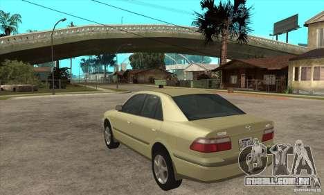 MAZDA 626 GF Sedan para GTA San Andreas traseira esquerda vista