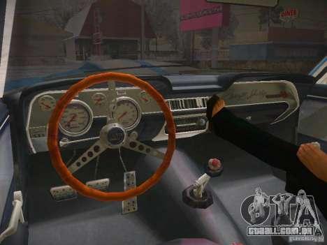 Shelby GT500 Eleanor para GTA San Andreas vista traseira