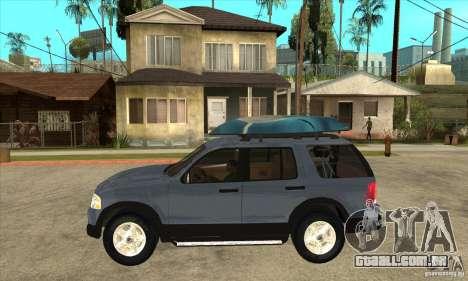 Ford Explorer 2004 para GTA San Andreas esquerda vista