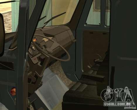 ZIL 5417 CONFORME para GTA San Andreas vista interior