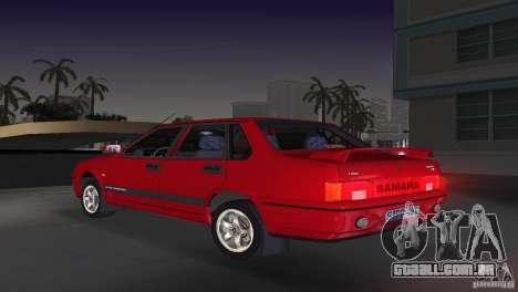 VAZ 21099 DeLuxe para GTA Vice City deixou vista