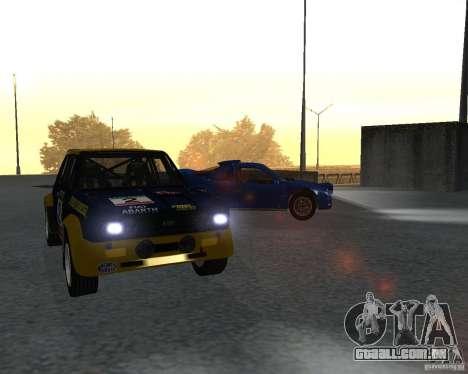 Fiat 131 Rally para GTA San Andreas esquerda vista