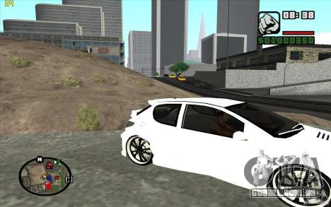 Peugeot 206 Tuning para GTA San Andreas esquerda vista