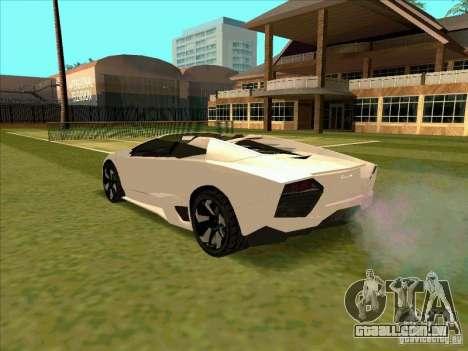 Lamborghini Reventon Convertible para GTA San Andreas traseira esquerda vista