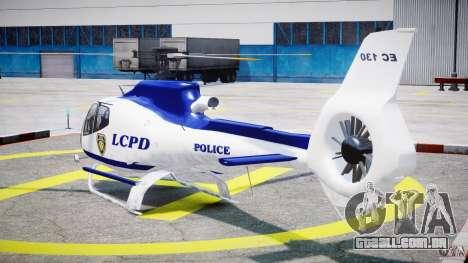 Eurocopter EC 130 LCPD para GTA 4 traseira esquerda vista