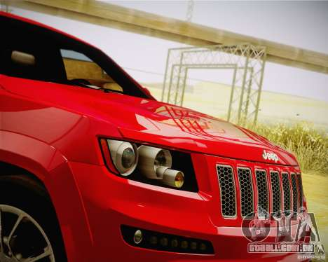 Jeep Grand Cherokee SRT-8 2012 para GTA San Andreas vista direita