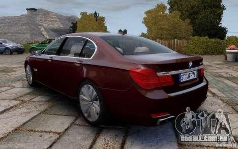 BMW 760Li 2011 para GTA 4 traseira esquerda vista