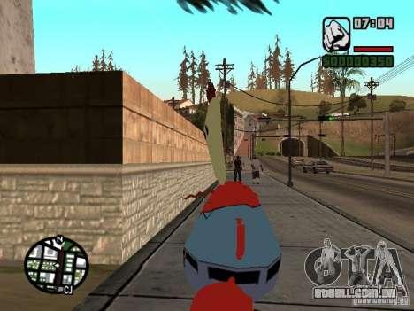O Sr. Siriguejo para GTA San Andreas quinto tela