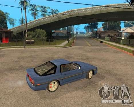 Toyota Supra MK3 para vista lateral GTA San Andreas