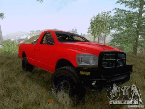 Dodge Ram Trophy Truck para GTA San Andreas traseira esquerda vista