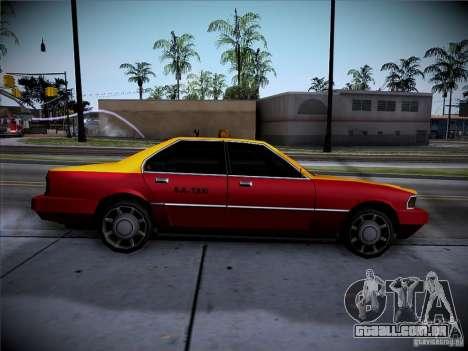 Sentinel Taxi para GTA San Andreas traseira esquerda vista