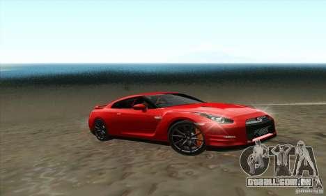 Nissan GT-R R-35 2012 para GTA San Andreas traseira esquerda vista