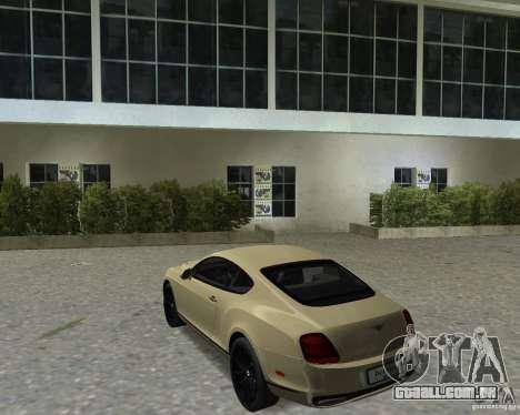 Bentley Continental SS para GTA Vice City vista direita