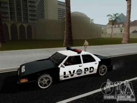 Sunrise Police LV para GTA San Andreas esquerda vista