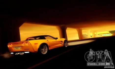 Chevrolet Corvette ZR-1 para GTA San Andreas vista interior
