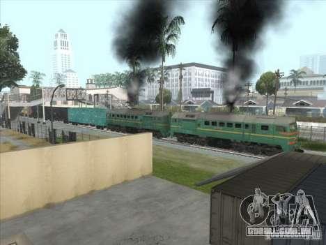 Estados bálticos locomotiva frete ferroviário im para GTA San Andreas vista interior