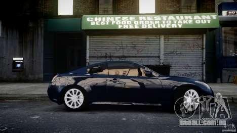 Infiniti G37 Coupe Sport para GTA 4 vista de volta