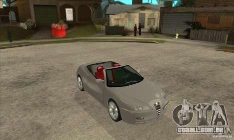Alfa Romeo Spyder para GTA San Andreas vista traseira