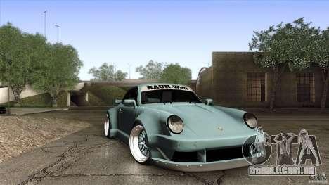 Porsche 911 Turbo RWB DS para GTA San Andreas vista interior