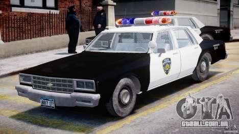 Chevrolet Impala Police 1983 para GTA 4 esquerda vista