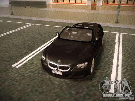 BMW M6 para GTA San Andreas vista inferior