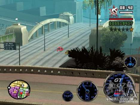 Speedometer GT para GTA San Andreas quinto tela