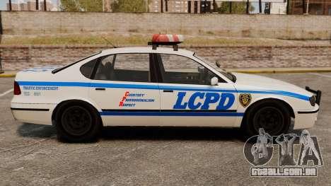 Nova patrulha da polícia para GTA 4 esquerda vista