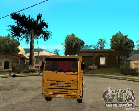 KAMAZ 6520 TAI para GTA San Andreas vista traseira