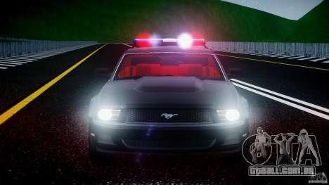 Ford Mustang V6 2010 Police v1.0 para GTA 4 vista inferior