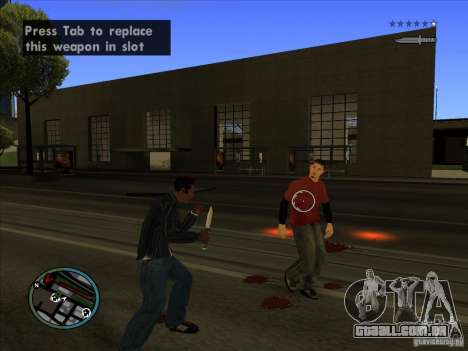 GTA IV TARGET SYSTEM 3.2 para GTA San Andreas oitavo tela