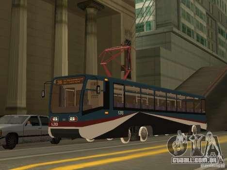 O novo bonde para GTA San Andreas por diante tela