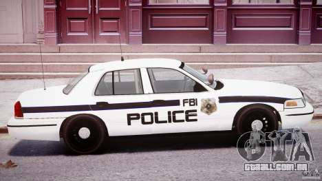 Ford Crown Victoria FBI Police 2003 para GTA 4 vista superior