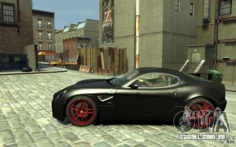 Alfa Romeo 8C Competizione v1 para GTA 4 esquerda vista