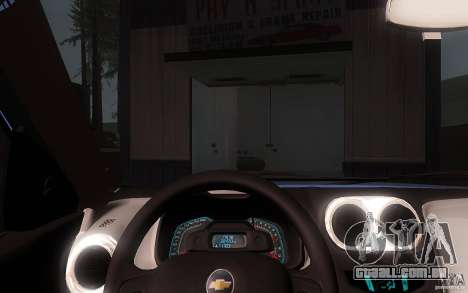 Chevrolet Agile 2012 para GTA San Andreas vista interior